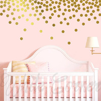 Polka Dot Wall Decals - Polka Dot Set, Nursery Decals, Confetti Decals, Modern Wall Decals, Modern Decor, Vinyl Wall Decals, Gold Decals