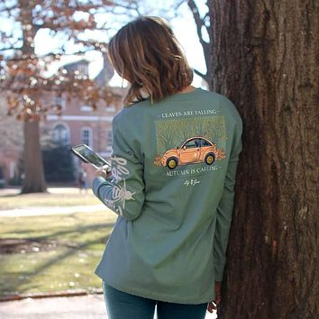 Leaves Are Falling Long Sleeve Tee by Lily Grace
