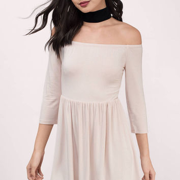 Kai Off Shoulder Skater Dress