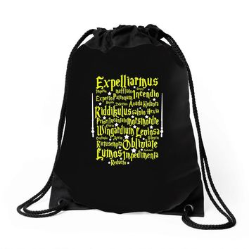 Expelliarmus Harry Potter Spell Drawstring Bags