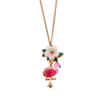 Tropical Fifi Flamingo Pendant necklace | Pink | Accessorize