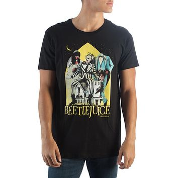 Beetlejuice Mens Black Mens T-Shirt
