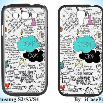 Fault in Our Stars--Samsung Galaxy S3 Samsung Galaxy S4 Samsung Case Samsung Note 3 Samsung Cover Galaxy S4 Case Galaxy S3Case