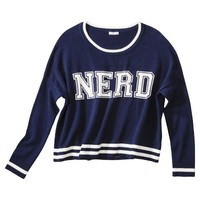 Xhilaration® Juniors Varsity Sweater - Assorted Colors