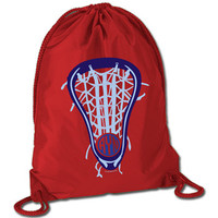 Lacrosse Sport Pack Cinch Sack Lax Life with Monogram | Lacrosse Cinch Sacks | Lacrosse Backpacks | Cinch Sacks for Lacrosse Players