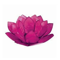 Pink Pearl Lotus Tealight Holder