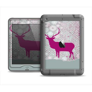 The Pink Stitched Deer Collage Apple iPad Mini LifeProof Nuud Case Skin Set