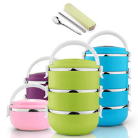 304 Stainless Steel Thermos Bento Lunch Box for Kids Thermal Food Container Food Thermos Portable Japanese Insulated Lunchbox