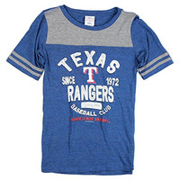 Women's MLB Team Baseball Club Sport Top (Texas Rangers, XL)