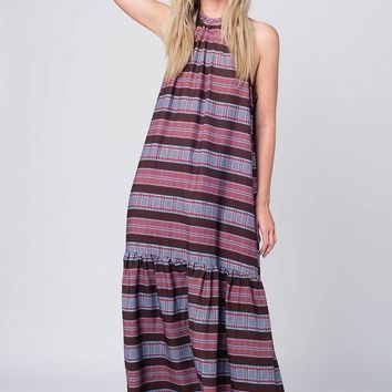 Draw The Line Purple Boho Maxi Dress