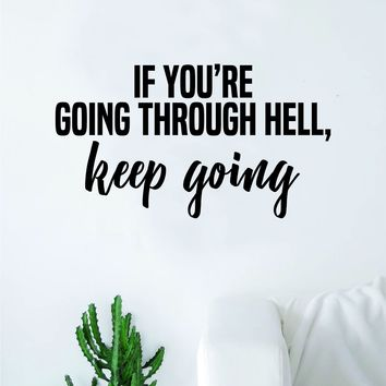 Keep Going Quote Wall Decal Sticker Bedroom Home Room Art Vinyl Inspirational Teen Motivational Smile Happy