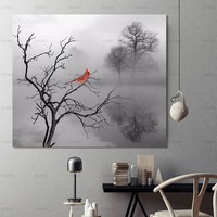 Picture wall art canvas painting  picture abstract tree bird  Art Pictures poster decoration for living room prints on canvas
