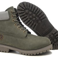 hcxx Timberland Rhubarb Boots White Grey Waterproof Martin Boots