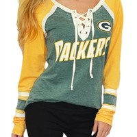 Green Bay Packers Wideneck Raglan | SportyThreads.com