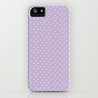 Lavender Dots iPhone & iPod Case by Allyson Johnson