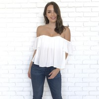 Our Soft White Off Shoulder Blouse