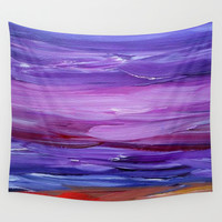 Seascape Wall Tapestry by Jenartanddesign