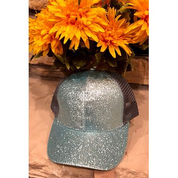 Glitter Pony Tail Hat