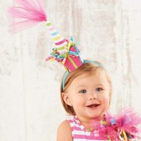 Mud Pie Baby - Mud Pie Tulle Birthday Hat - Lollipopmoon.com only $14.00 - New Items