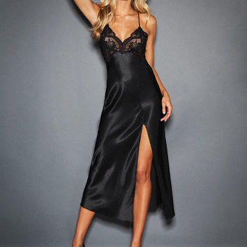 Gracie Satin And Lace Gown