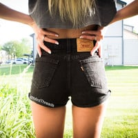 "ALL SIZES Vintage ""ATHENA"" High Waisted LEVI Denim Shorts"