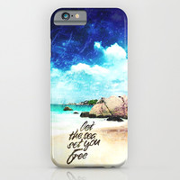 LET THE SEA SET YOU FREE - for iphone iPhone & iPod Case by Simone Morana Cyla