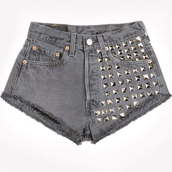 902 Studded Charcoal Cheeky Shorts