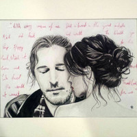 Hozier Jackie and Wilson Rendered / Drawn over Print