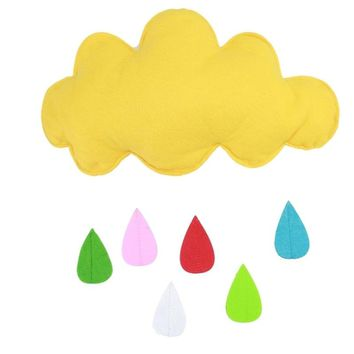 Kids Play Tent Decoration Tent Props Toy Raining Clouds Water Drop/Star Moon Baby Bed Room Hanging Decor Wall Stickers