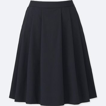 WOMEN HIGH-WAIST DRY STRETCH TUCKED SKIRT