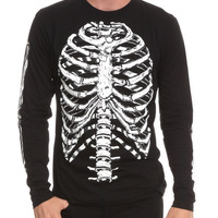 RUDE Skeleton Long-Sleeved Slim-Fit T-Shirt | Hot Topic
