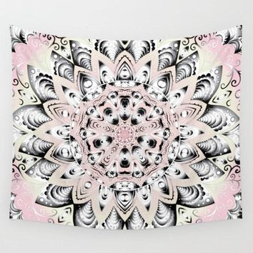 Pink Yellow Mandala Wall Tapestry Yoga Meditation Mandala Wall Hanging