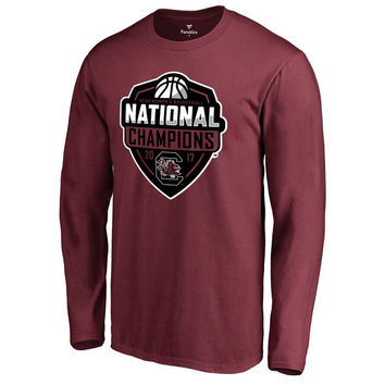 South Carolina Gamecocks Fanatics Branded 2017 NCAA Women's Basketball National Champions Official Logo Long Sleeve T-Shirt - Garnet