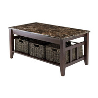 Zoey Coffee Table Faux Marble Top