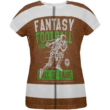 Fantasy Football MVP Hall Of Fame All Over Womens T Shirt
