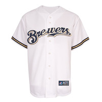Majestic Milwaukee Brewers Rickie Weeks #23 Replica Home Jersey