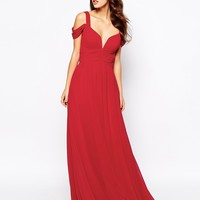 Forever Unique Sweetheart Maxi Dress with Off Shoulder