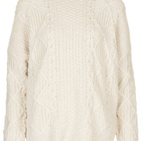 Knitted Angora Cable Jumper - Knitwear - Clothing - Topshop USA