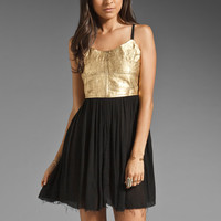 One Teaspoon Fear and Loathing Dress in Gold from REVOLVEclothing.com