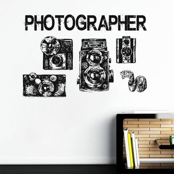 ik1134 Wall Decal Sticker camera film studio photographer