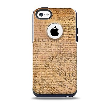 The Historical Word Overlay Skin for the iPhone 5c OtterBox Commuter Case