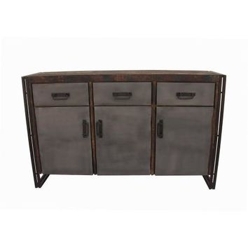 Abran 3 Door 3 Drawer Industrial Sideboard/Buffet