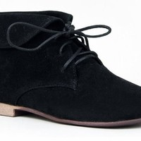Breckelle's Sandy-51 Basic Lace Up Folded Cuff Desert Ankle Boot
