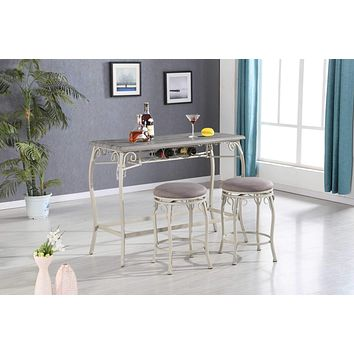 Counter Height Wine Glass Rack Table & Stool Set
