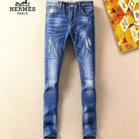 ONETOW Boys & Men Hermes Fashion Casual Pants Trousers Jeans