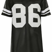 Number 86 Airtex Sporty Tee