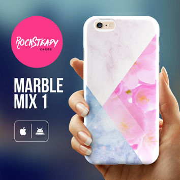 Sakura Marble iPhone 6 case  - iphone 6 case, iPhone 6 Plus case, marble iPhone 5s Case, iPhone 5C case, marble case, samsung s5 case marble