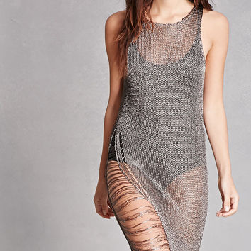 Distressed Metallic Dress