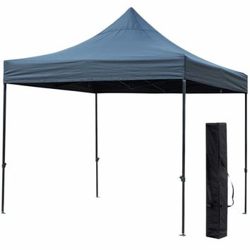 10' X 10' Outdoor Easy Pop Up Waterproof Canopy with 420D Top, Portable Event Party Shade Shelter Tent