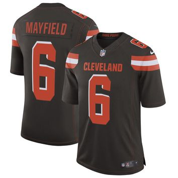 Men's Cleveland Browns Baker Mayfield Nike Brown Speed Machine Limited Jersey